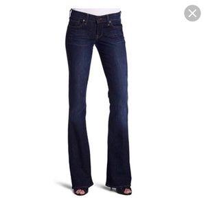 Women's Mid Rise Dark Wash Flare Jeans